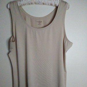 roz & ALI Women's Tan Tank Top, Size 2X